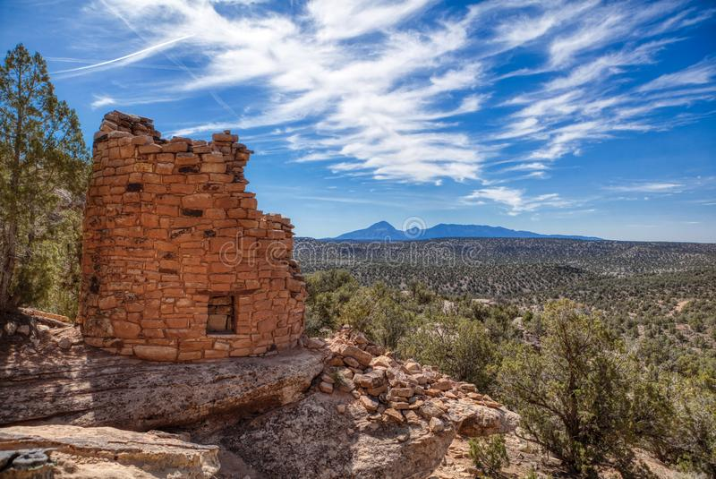 Painted Hand Ruins Site in the Canyon of Ancients National Monument stock photo