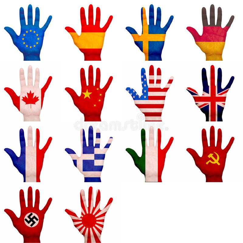 Download Painted hands stock image. Image of touristic, political - 32083013