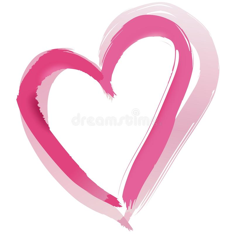 Download Painted Heart Shape stock vector. Image of drawn, symbol - 31658684