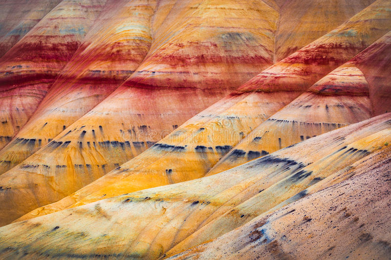 Painted Hills detail, John Day Fossil Beds National Monument royalty free stock photography