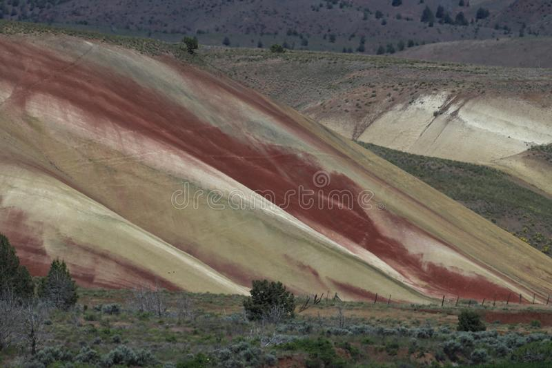 Painted Hills in the John Day Fossil Beds National Monument at Mitchell City, Wheeler County, Northeastern Oregon, USA stock images