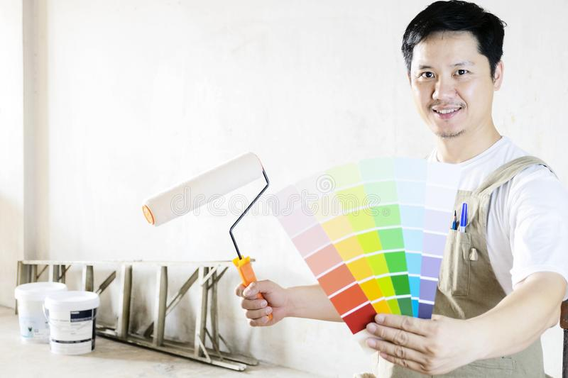 Painted home decoration concept stock photography