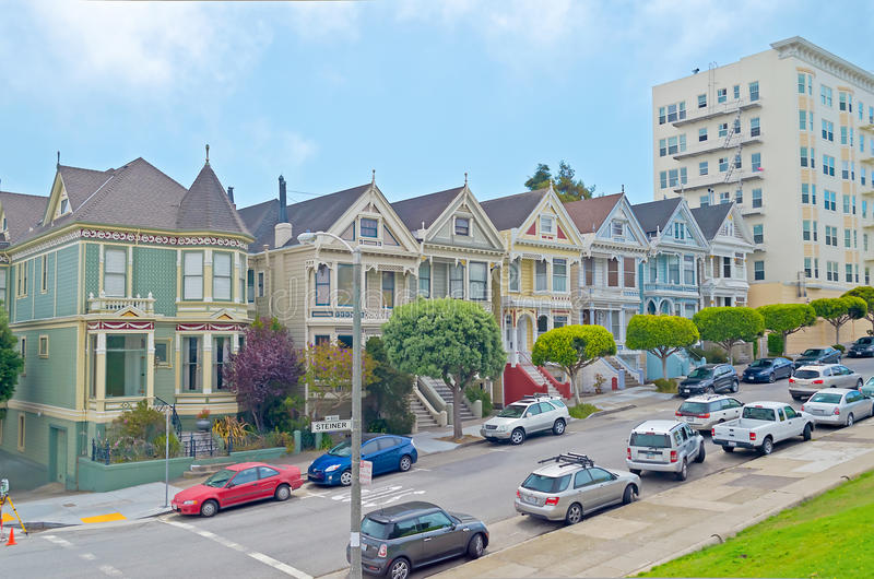 The Painted Ladies at Alamo Square, San Francisco, USA royalty free stock images