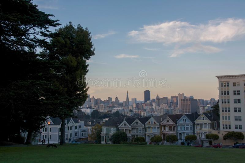 Painted ladies San Francisco, USA. Painted ladies houses in San Francisco stock photography