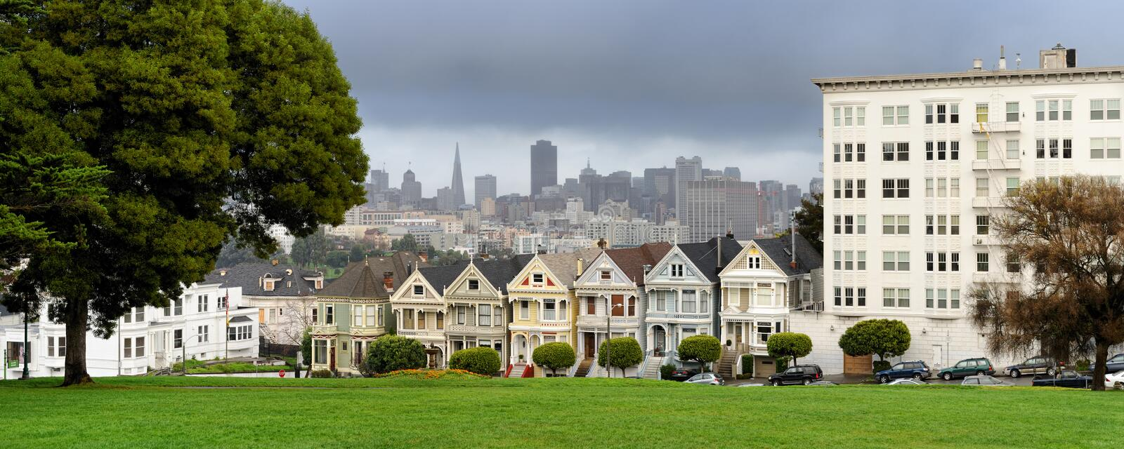 Download Painted Ladies Of San Francisco Stock Image - Image of architecture, city: 18380377