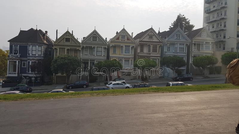 Painted ladies San Francisco. Painted ladies from full house opening credits stock photos