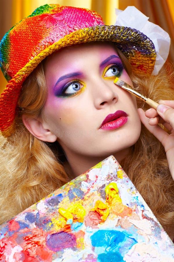 Download Painted make up stock image. Image of glamor, inspiration - 20665571