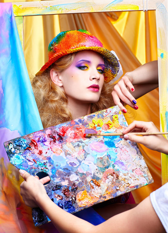 Download Painted make up stock photo. Image of blue, draw, inspiration - 22718036