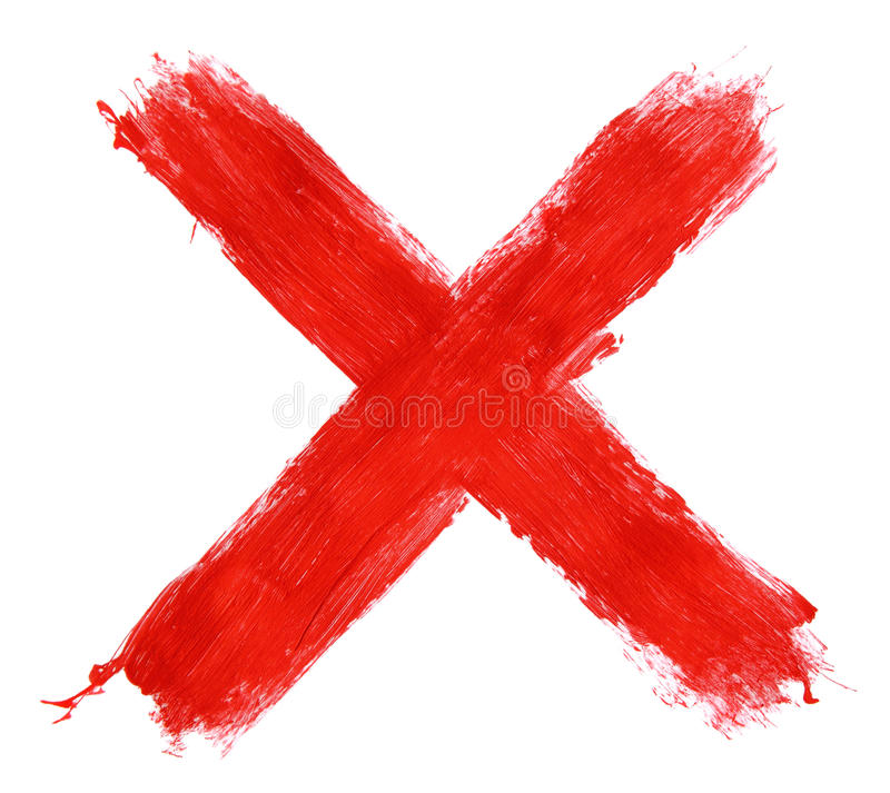 Painted X mark royalty free stock images