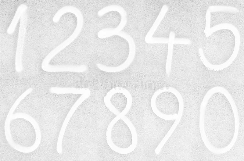 Download Painted numbers stock illustration. Image of original - 22662783