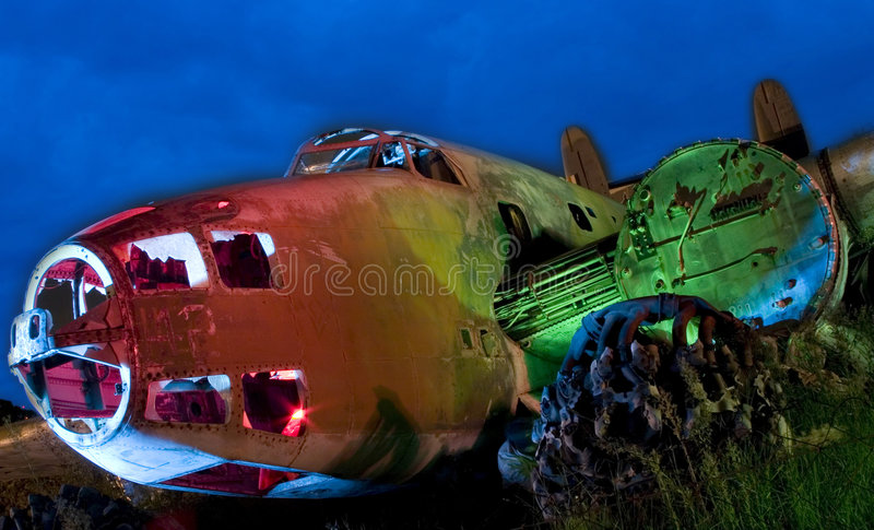 Painted Old Aircraft Royalty Free Stock Photography