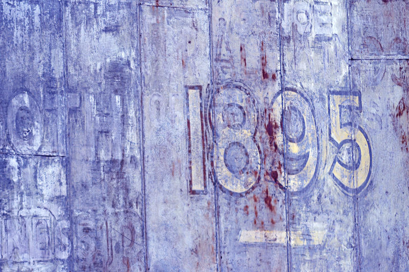 Painted Old Wall With 1895 Date Royalty Free Stock Photography