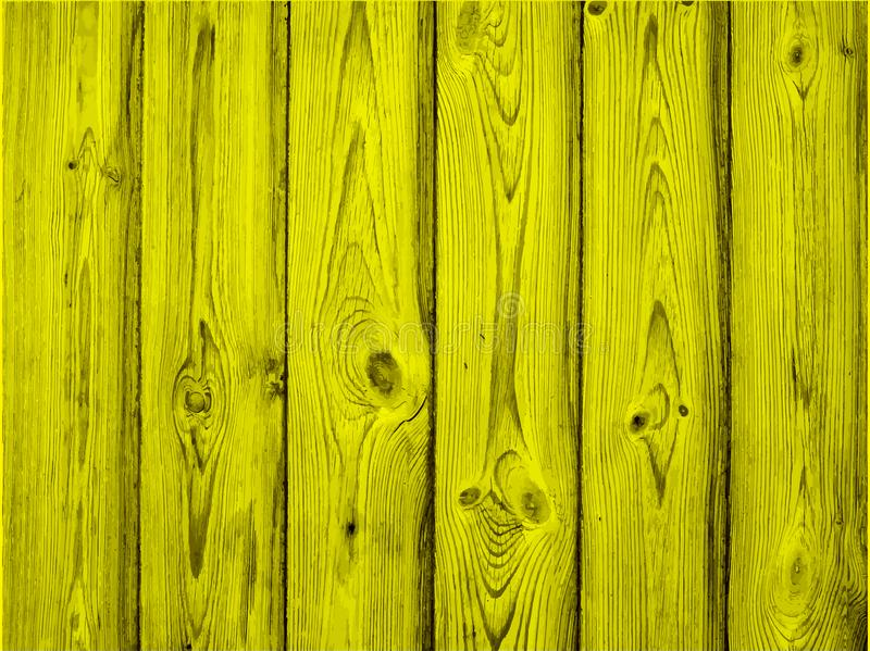Painted old wooden wall. yellow background, vector royalty free illustration