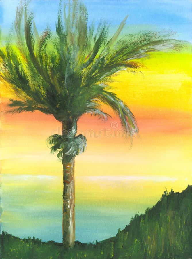 Painted Palm Tree Stock Photography