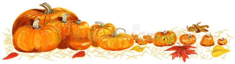 Download Painted pumpkin border stock illustration. Image of lumpy - 21234756