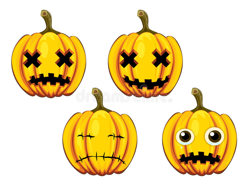 Download Painted pumpkins stock vector. Image of illustration - 42235248