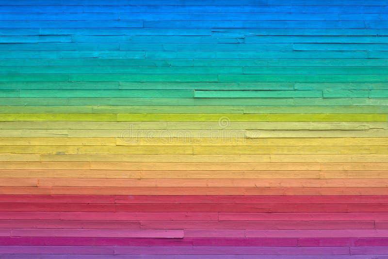Painted Rainbow Wall Backdrop royalty free stock photo