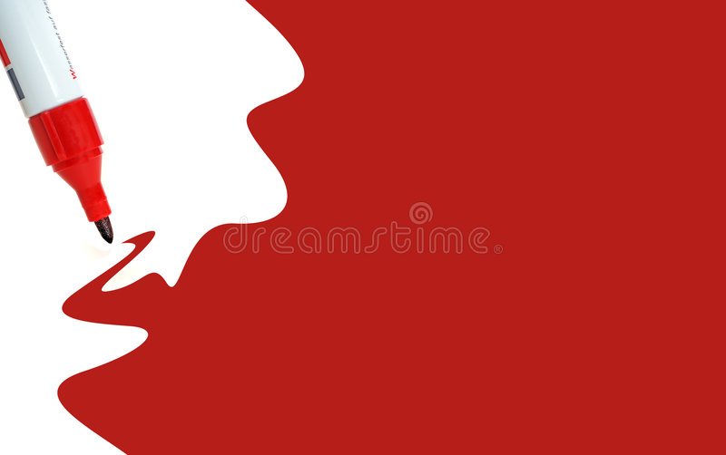Painted red royalty free stock images
