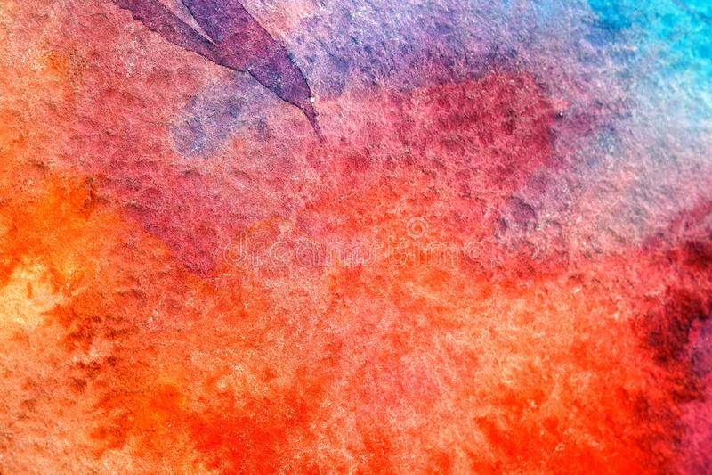 Painted red universe watercolor royalty free stock image