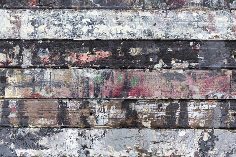 Painted resistió a la madera imagen de archivo