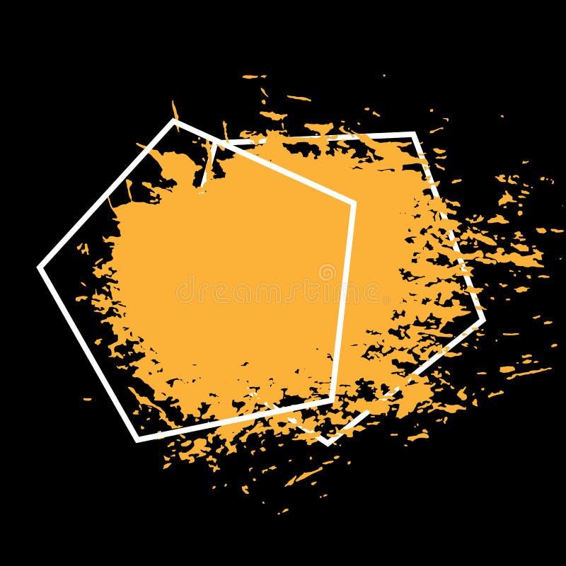 Painted riscou o molde das ilustrações da textura abstrata da escova do fundo das bandeiras do grunge para a venda da promoção ilustração do vetor