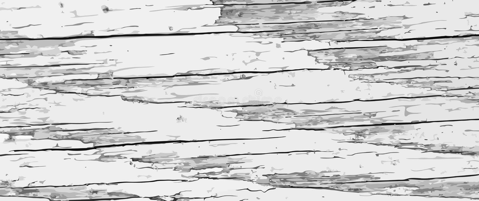 Painted rough wooden background. Vector texture of cracked wood plank. royalty free illustration