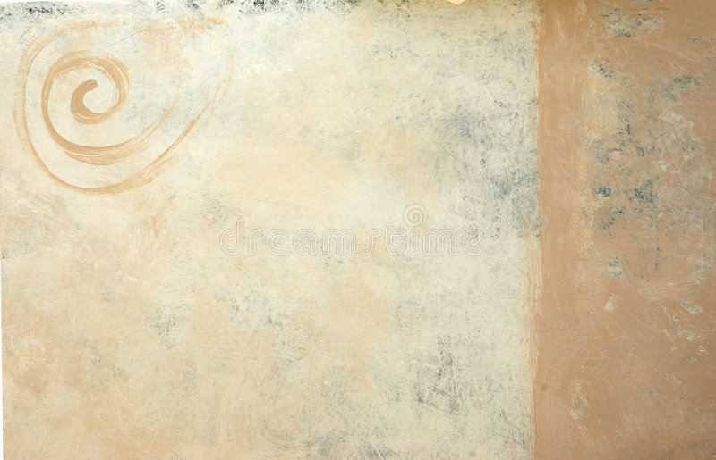 Painted Spiral Background. Background painted in neutral earth tones and with a spiral