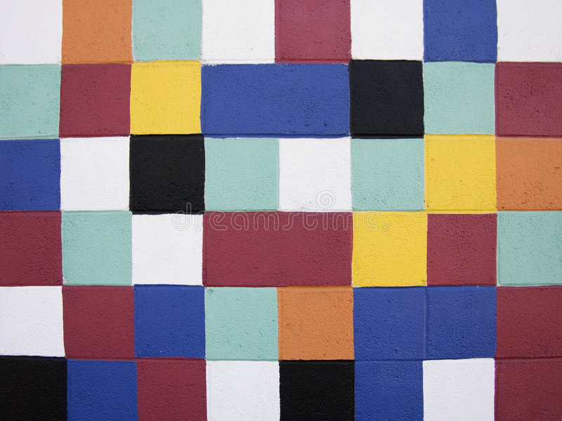 Painted Squares stock images