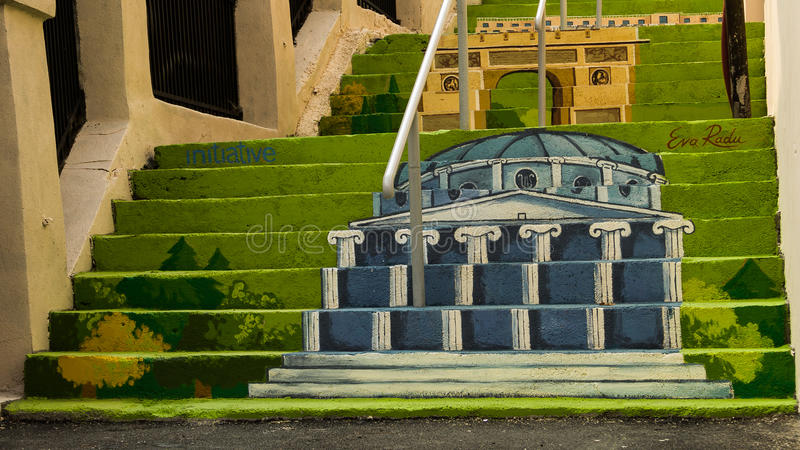Download Painted Stairs - Romanian Athenaeum Editorial Stock Photo - Image: 42368983