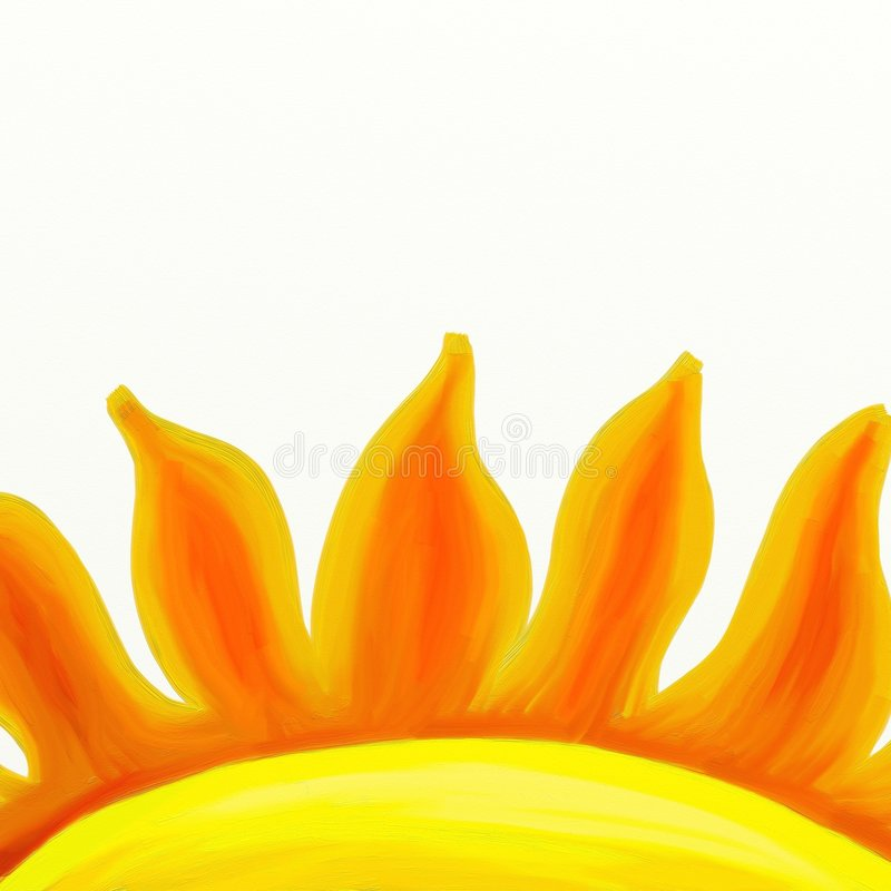 Download Painted sun flames stock illustration. Image of nature - 3142545