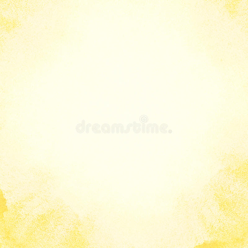 Painted sun watercolor background. stock photography