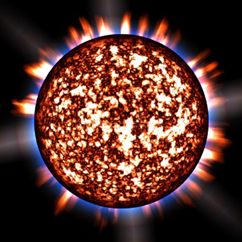 Painted Sunburst 1 stock image
