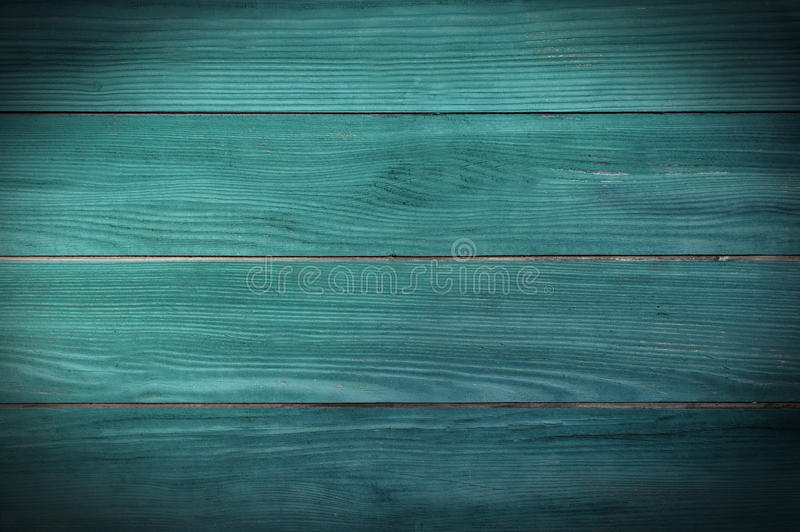 Painted teal planks stock images