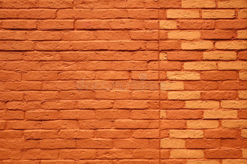 Painted Terracotta Brick Wall Background Or Texture Stock Image Image Of Grungy Exterior