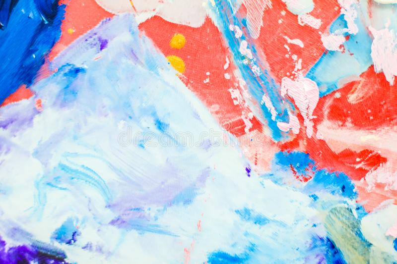 Abstract acrylic paint strokes, art brush flatlay background. Painted texture, artistic backdrop and modern painting concept - Abstract acrylic paint strokes stock photos