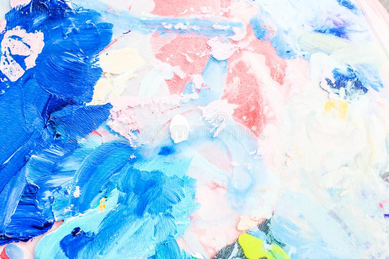 Abstract acrylic paint strokes, art brush flatlay background. Painted texture, artistic backdrop and modern painting concept - Abstract acrylic paint strokes royalty free stock images