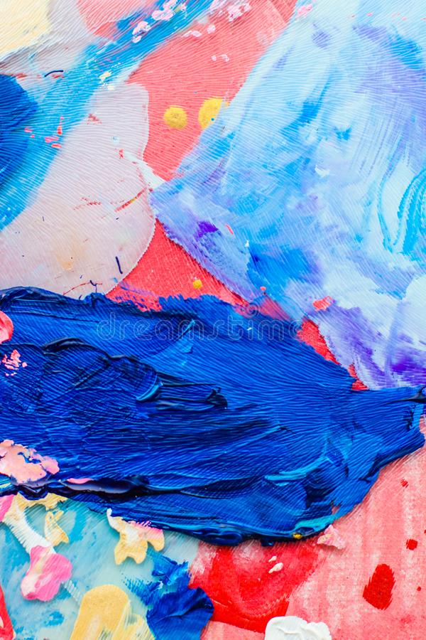 Abstract acrylic paint strokes, art brush flatlay background. Painted texture, artistic backdrop and modern painting concept - Abstract acrylic paint strokes stock images