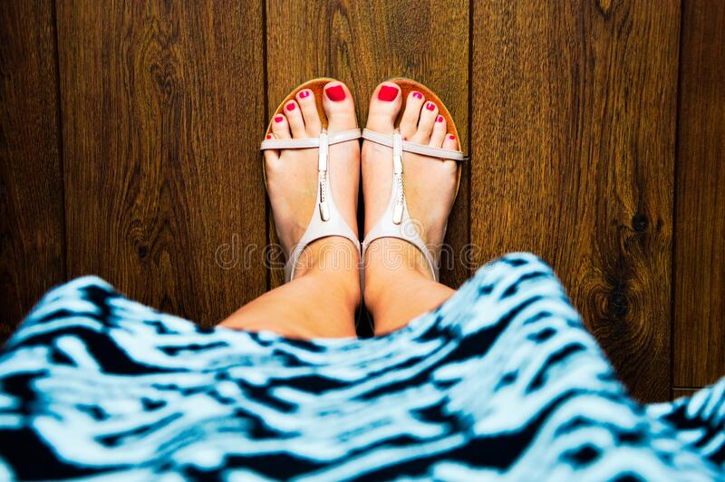 Painted Toenails In Sandals Free Public Domain Cc0 Image