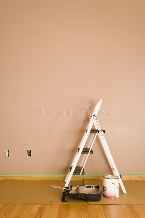 Download Painted wall stock photo. Image of renovation, hardwood - 2726040