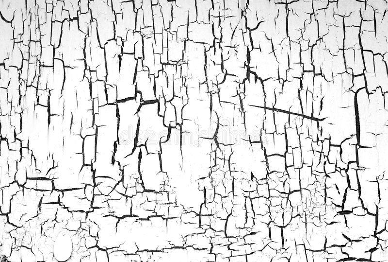 Painted wall white. The painted wall with cracks BW royalty free stock image
