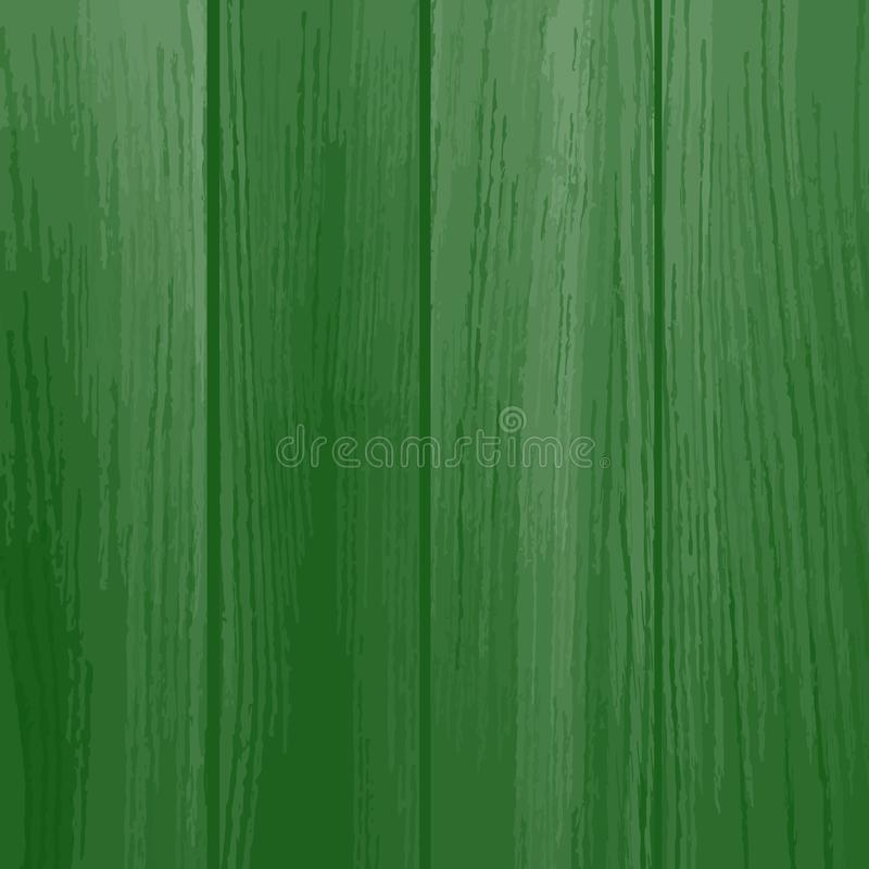 Painted Wood Background. Green color. royalty free illustration