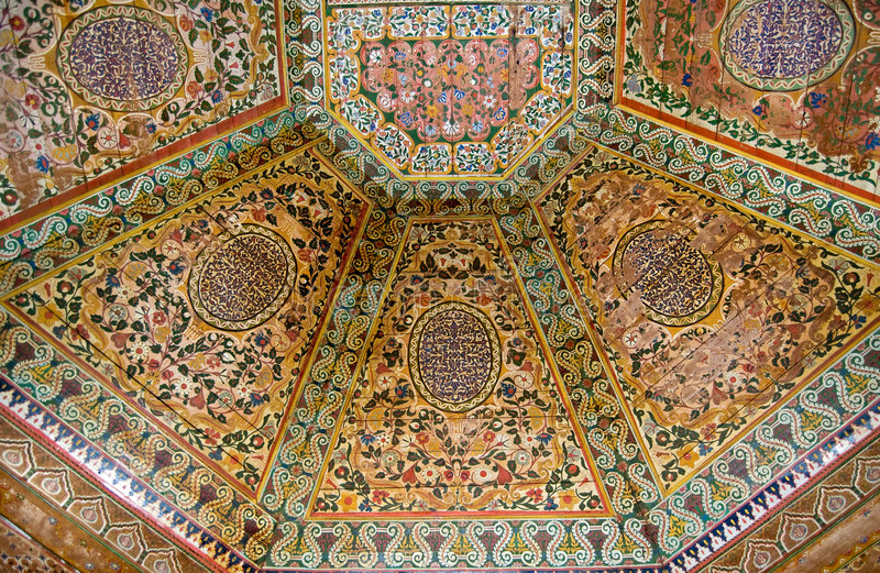 Download Painted wooden ceiling stock photo. Image of moorish, colored - 8479916