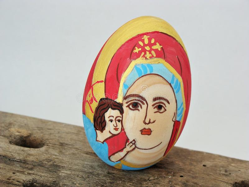 Download Painted Wooden Easter Egg Stock Photo - Image: 39738274