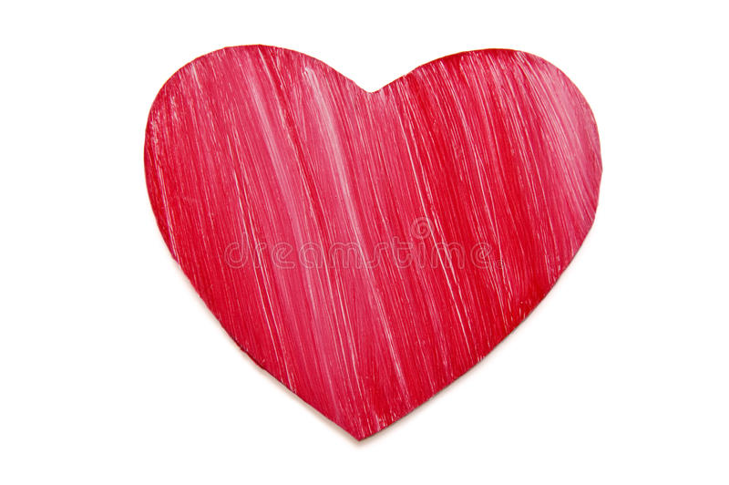 Painted wooden heart royalty free stock image