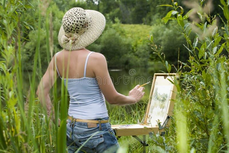 Painter stock image