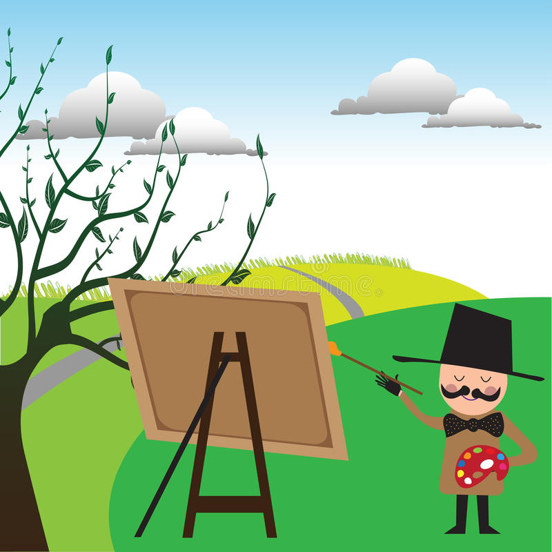 The painter royalty free illustration
