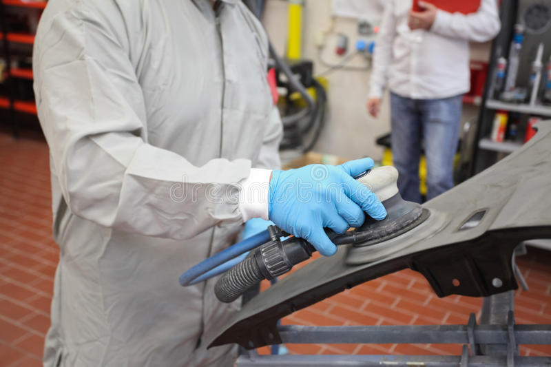 Download Painter stock image. Image of buffer, glove, automotive - 26545605