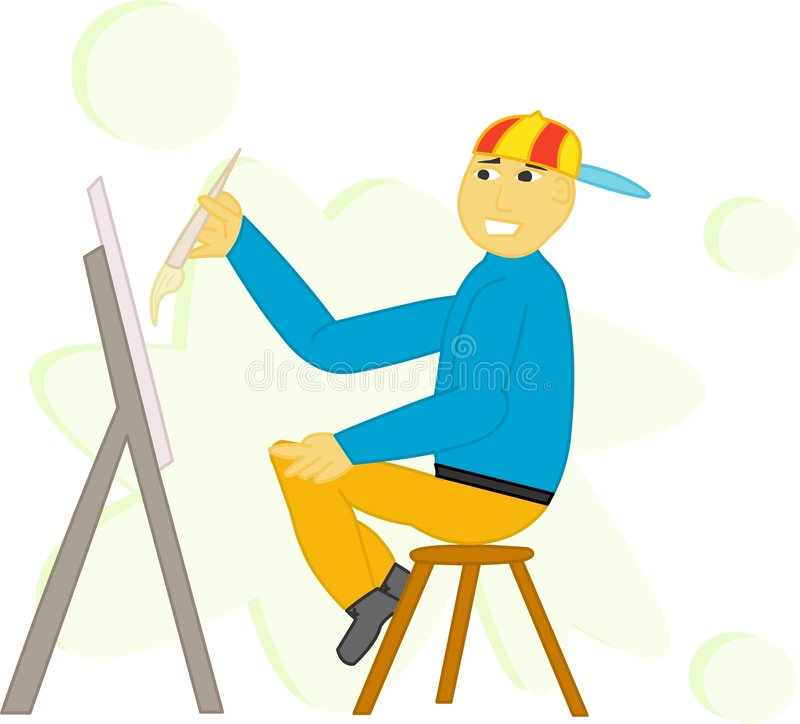 Download Painter stock illustration. Illustration of care, picture - 466777