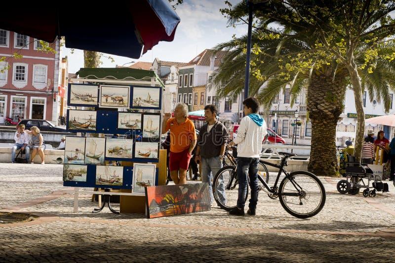 Painter Aveiro Portugal stock images