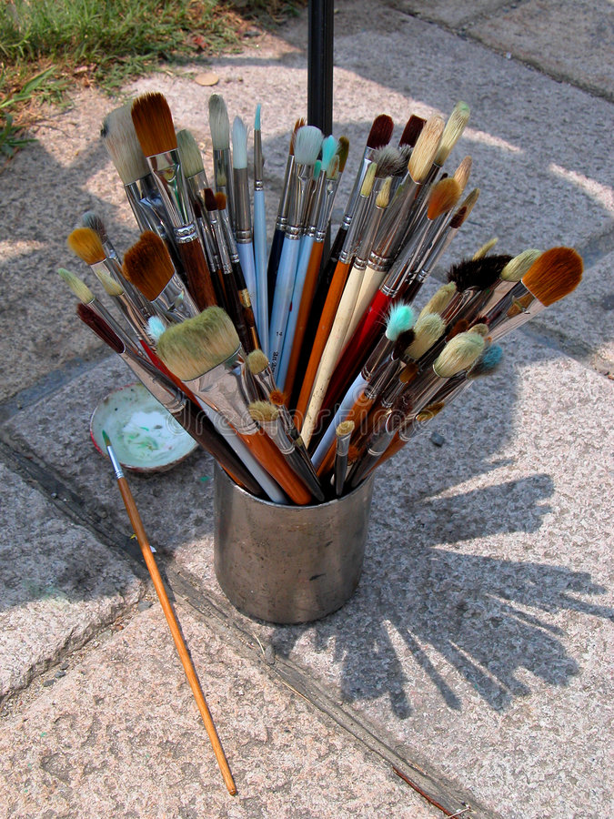 Download Painter brushes stock image. Image of painting, brush, portray - 14421